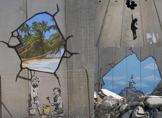 banksy-niños-palestina-muro-gaza