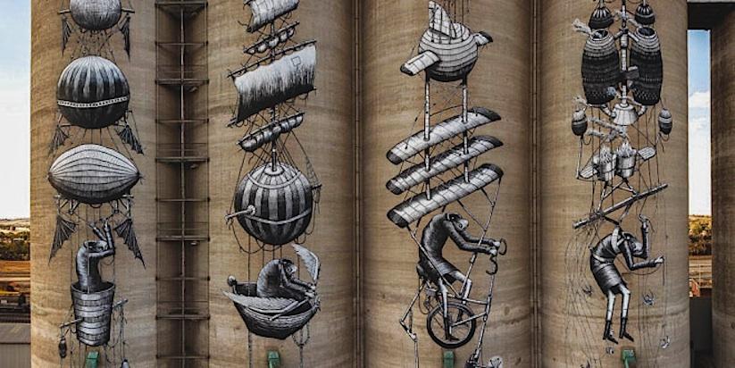 New_Mural_by_British_Artist_Phlegm_on_Giant_Grain_Silos_in_Perth_Australia_2015_01