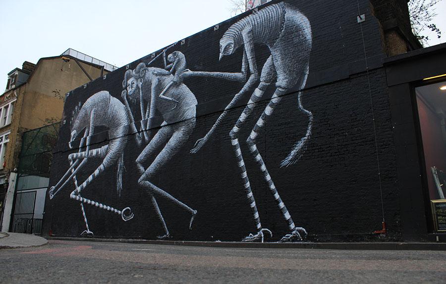 Street-Art-London-Village-Underground-Wall-Phlegm-5